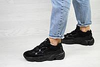 Женские кроссовки черные Adidas Yeezy 500 7534
