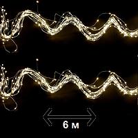 """Гирлянда новогодняя Luca Lighting """"Струна"""" 6 м, цвет теплый белый (для дома и улицы), фото 1"""