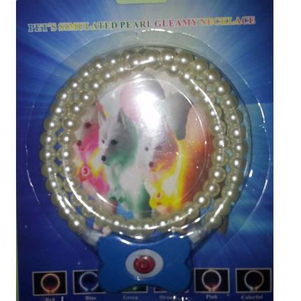 Cветящийся ошейник для собаки Жемчужный светящийся ошейник-ожерелье, фото 2