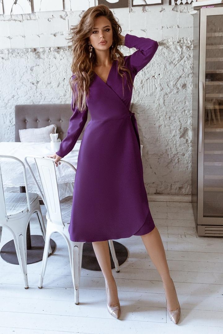 Женское платье на запах под пояс 42-44, 44-46