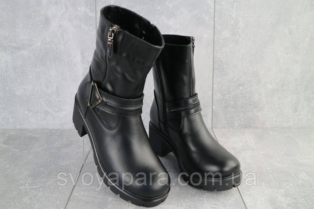 Ботинки женские Emma Z -057 черные (натуральная кожа, зима)