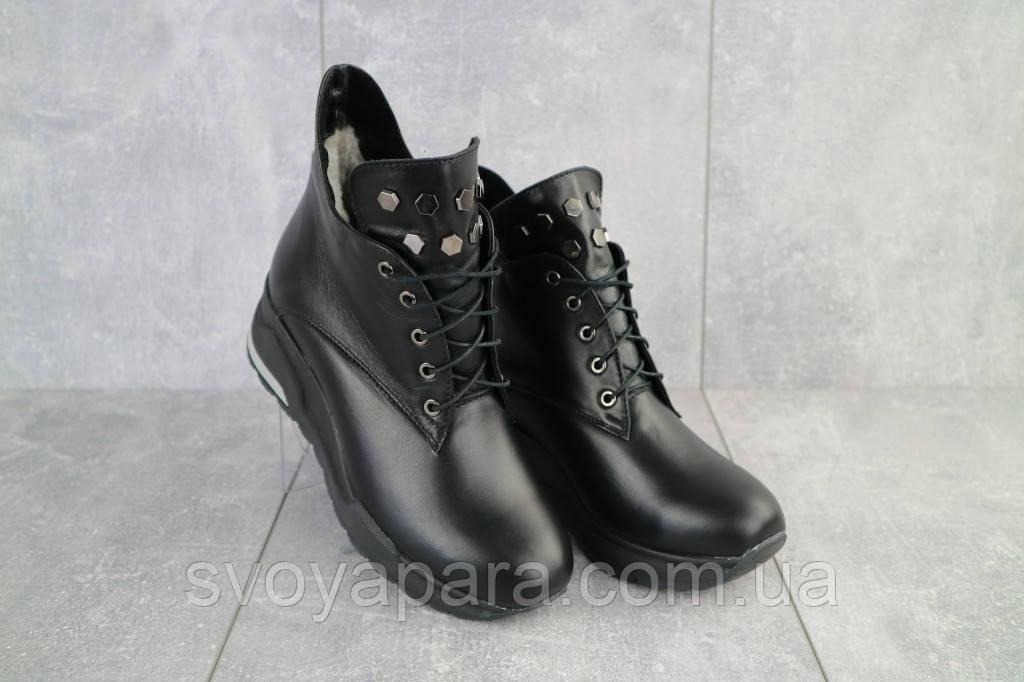 Ботинки женские Emma Z -061 черные (натуральная кожа, зима)