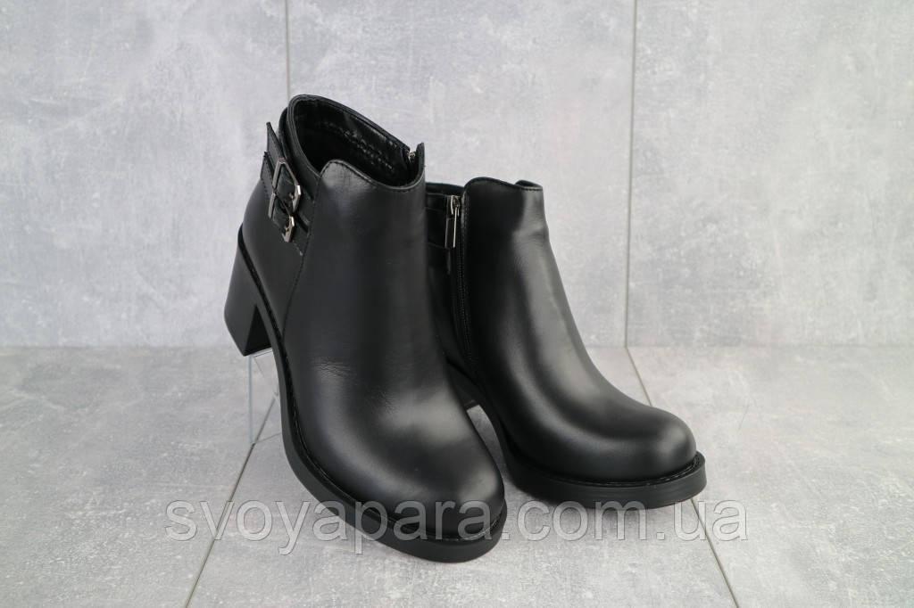 Ботинки женские Sezar 35k черные (натуральная кожа, зима)