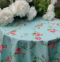 """Скатертина кухонні """"Троянди"""" 180 х 145 см (Скатертина їдальня) Бавовна"""