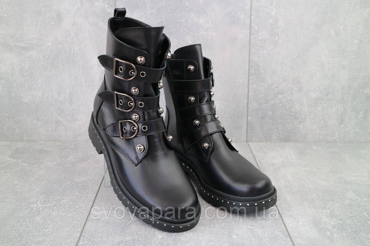 Ботинки женские Sonata Inter черные (натуральная кожа, зима)