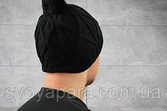 Мужская зимння шапка ShaDo 28 Черный