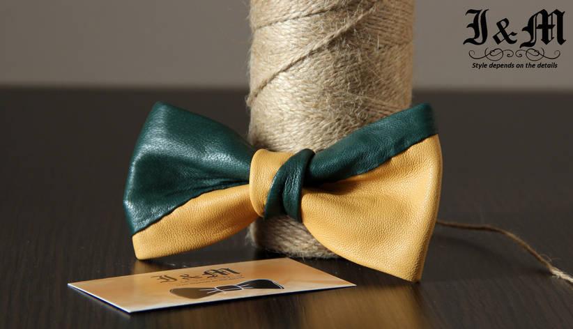 Кожаная галстук-бабочка I&M (010810), фото 2