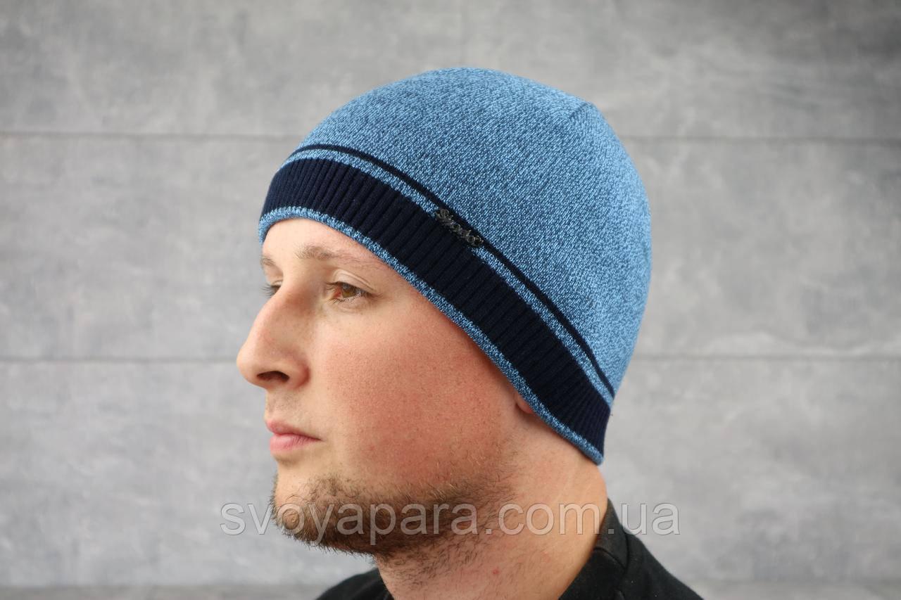 Мужская зимння шапка ShaDo 98 цвет Джинс