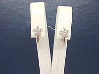 Срібні сережки з фіанітами. Артикул СВ265С, фото 1