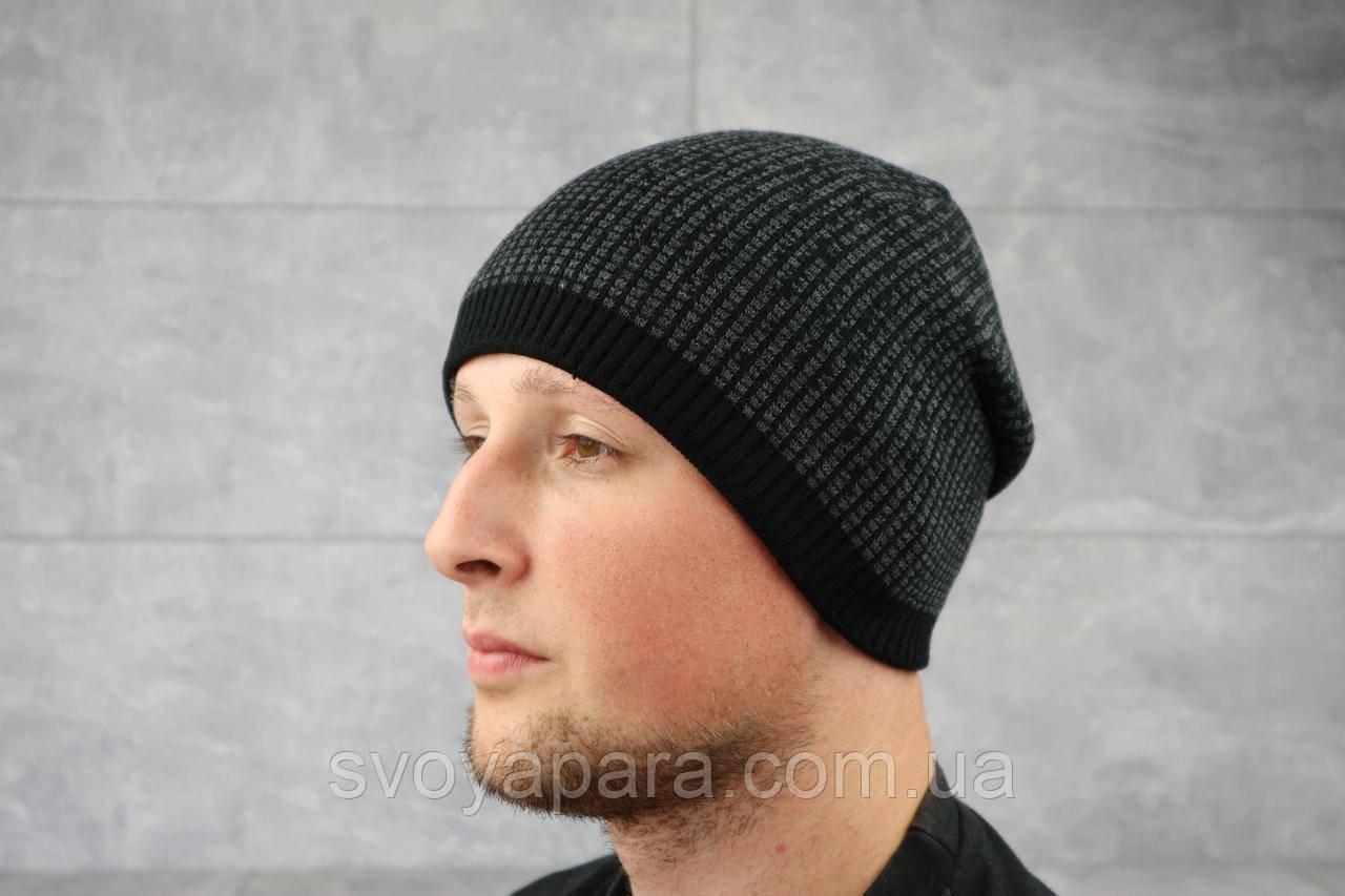 Мужская зимння шапка ShaDo 15 Черный