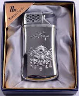 Зажигалка на подарок ХС13 Подарочная зажигалка в серебристом цвете Забудьте о спичках