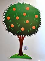 Дерево апельсиновое. Настенная декорация для детского сада.