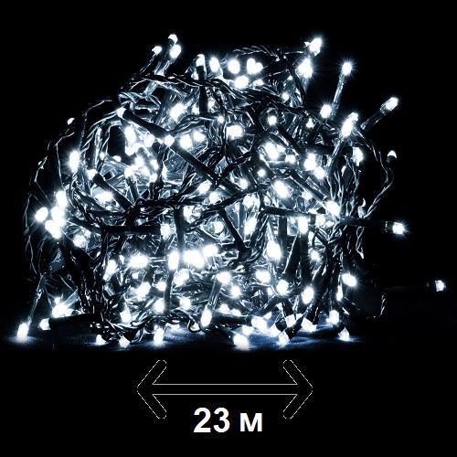 """Гирлянда новогодняя Luca Lighting """"Змейка"""", 23 м, цвет холодный белый (для дома и улицы)"""