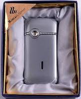 Серебристая зажигалка ХС12 имитация под телефон Оригинальность дает огонь! УСПЕЙ откидной верх