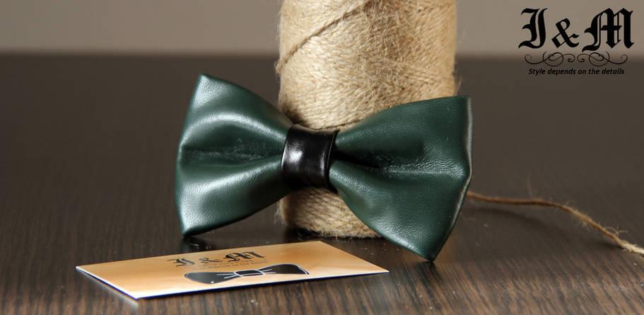 Кожаная галстук-бабочка I&M (010811), фото 2