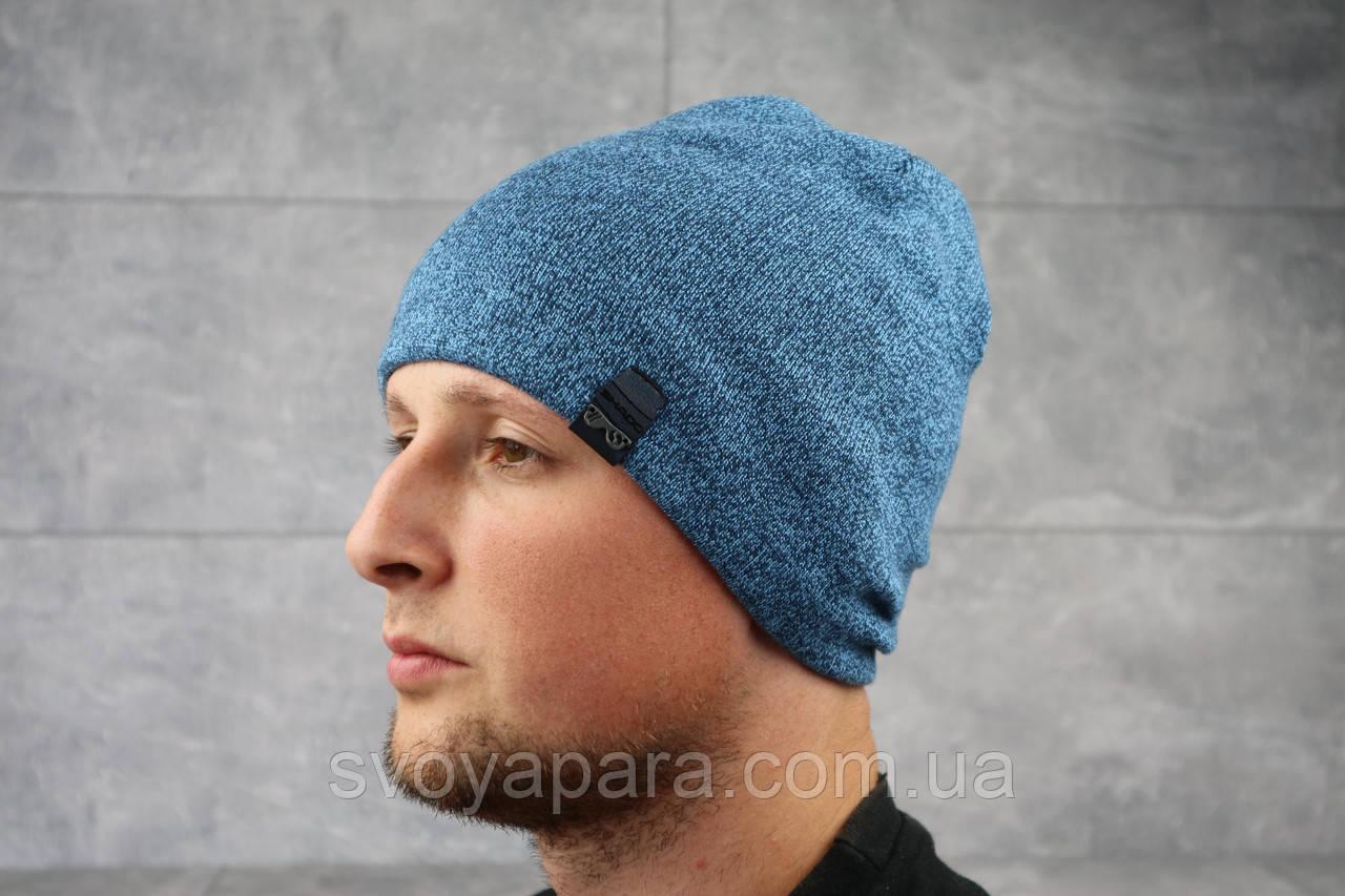 Мужская зимння шапка ShaDo 17 цвет Джинс