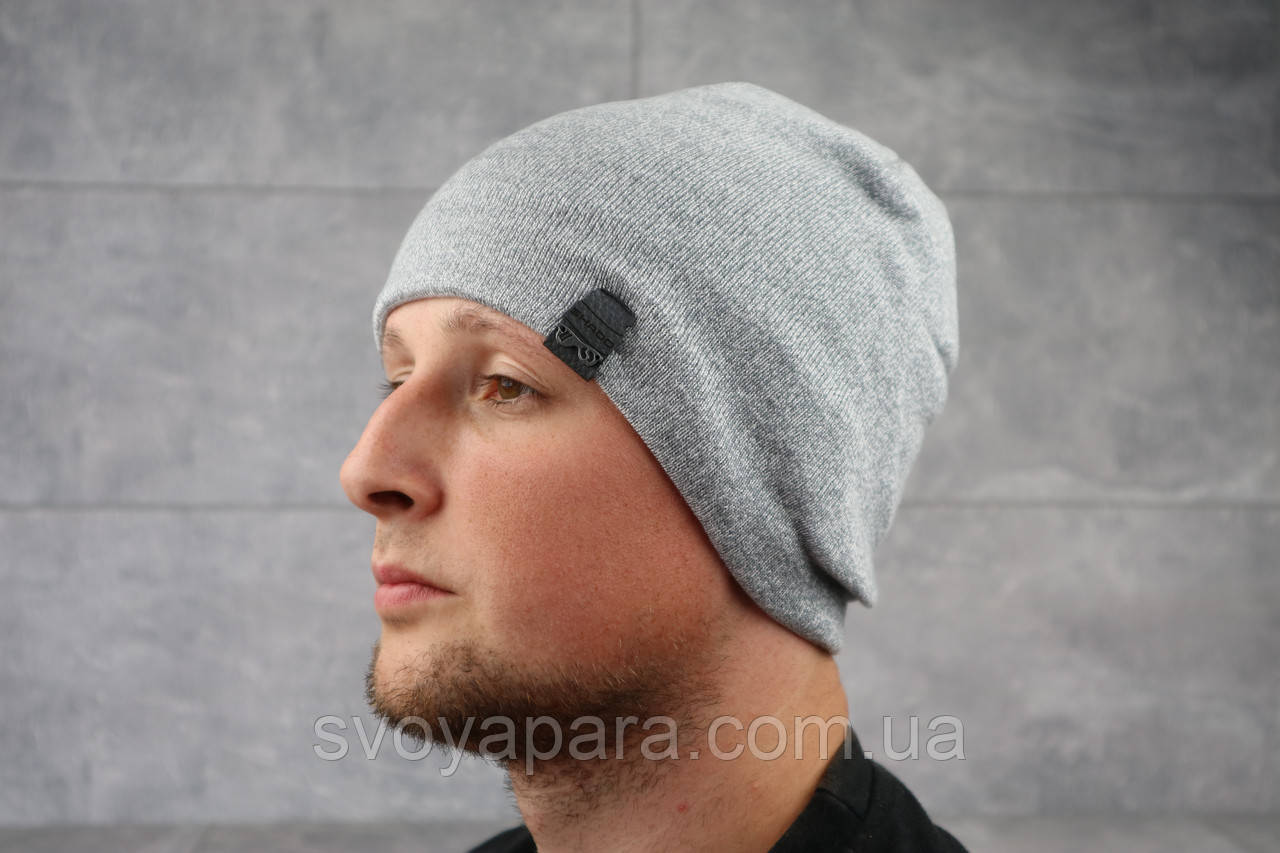 Мужская зимння шапка ShaDo 17 Серый