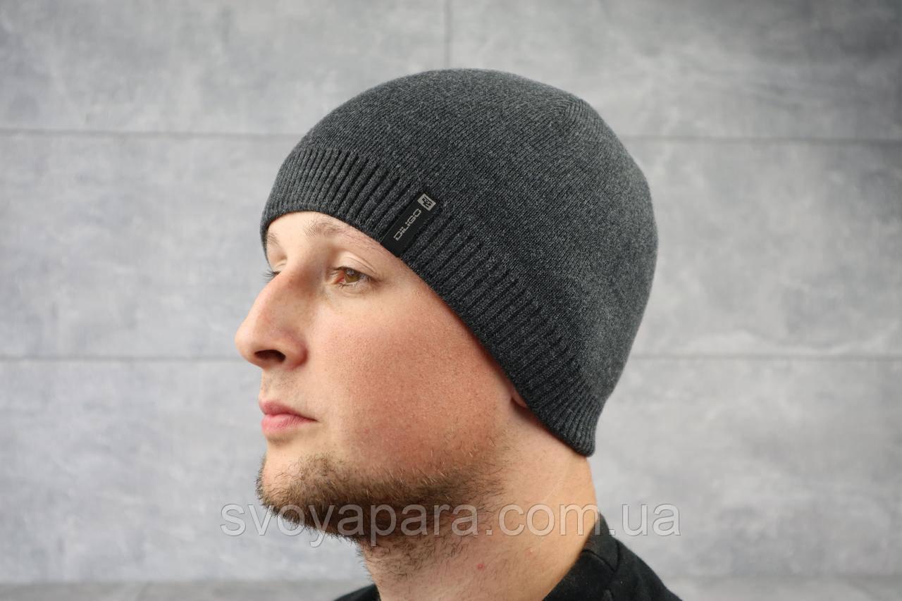 Мужская зимння шапка ShaDo Д10 Антрацит