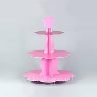 Этажерка бумажная розовая