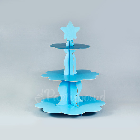 Этажерка бумажная голубая