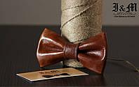 Кожаная галстук-бабочка I&M (010812)