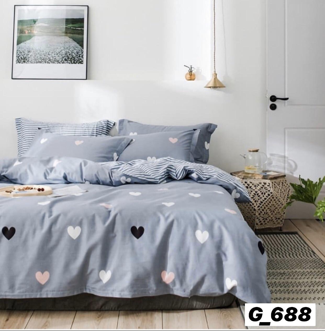 Комплект постельного белья евро размер «Бязь 688 Сердечки»