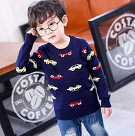 """Детский свитер на мальчика """"Машинки"""" 3-7 лет"""