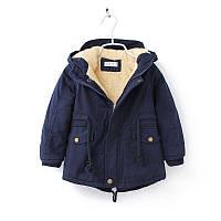 Осенне-зимняя куртка на мальчика на искусственном меху 100-140 см