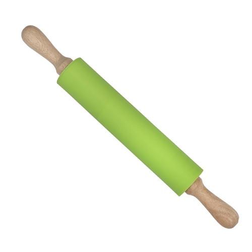Скалка силиконовая с деревянными ручками