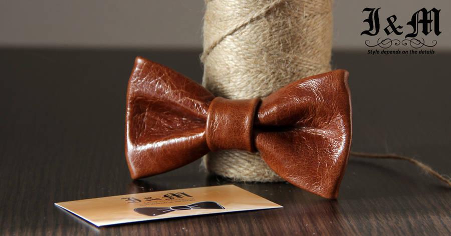 Кожаная галстук-бабочка I&M (010813), фото 2