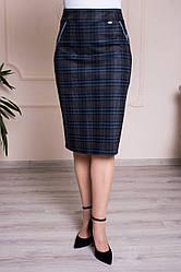 Прямая женская юбка Фиби 3 с серымы вставками