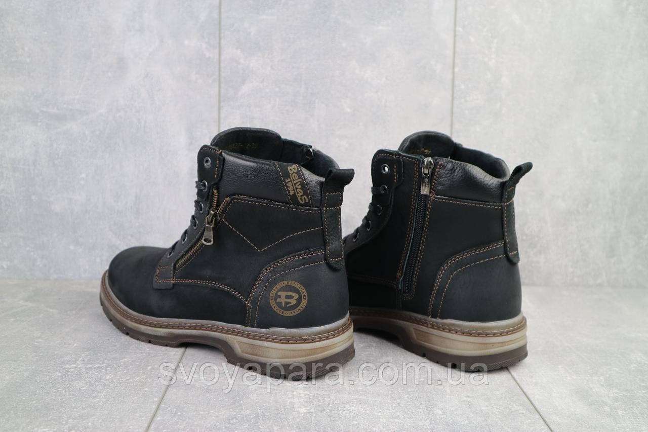 Ботинки мужские Belvas 18127/1 черные (натуральная кожа, зима)