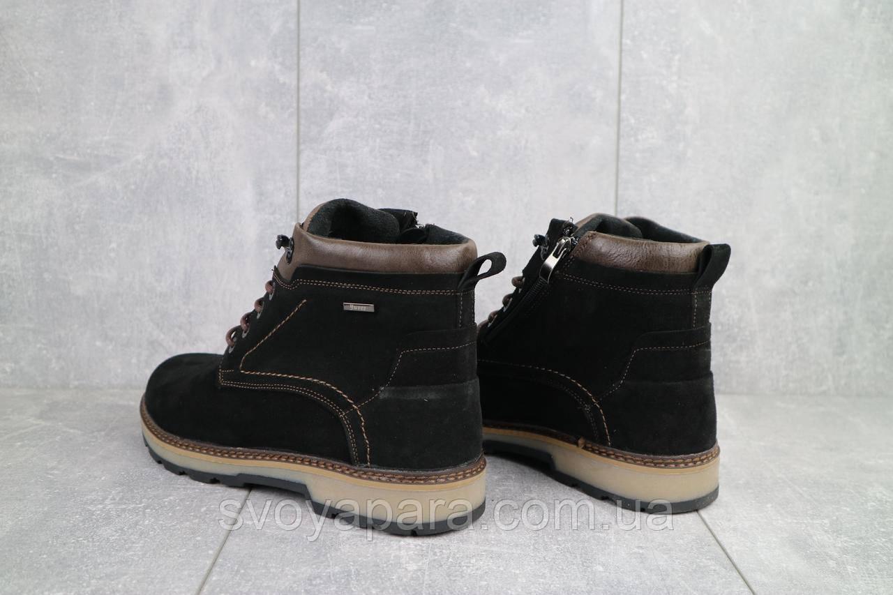 Ботинки мужские Yuves 774 черные (замша, зима)