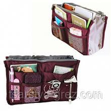 Органайзер Bag in bag maxi в сумку  Бордовый