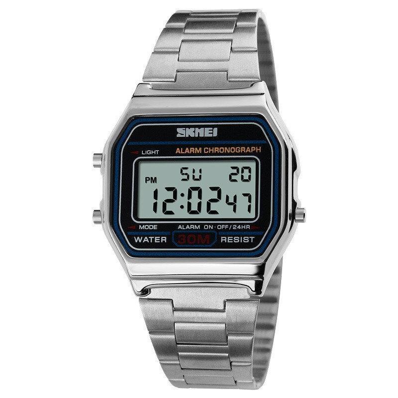Skmei 1123 popular  серебристые мужские  часы