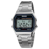 Skmei 1123 popular  серебристые мужские  часы, фото 1