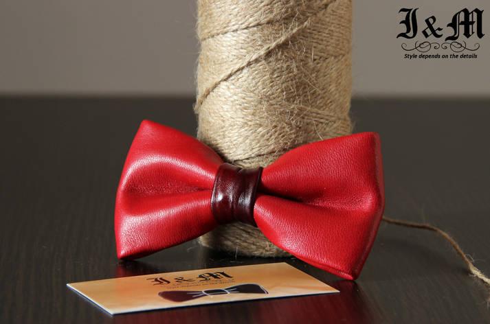 Кожаная галстук-бабочка I&M (010814), фото 2