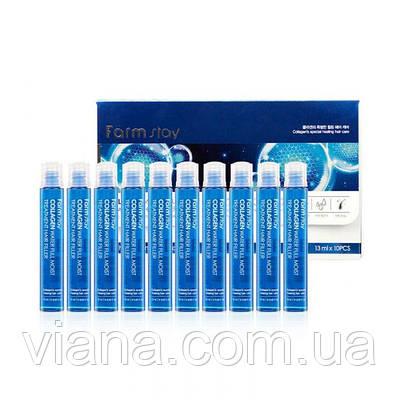 Увлажняющие филлеры для волос collagen Farmstay WATER FULL MOIST TREATMENT