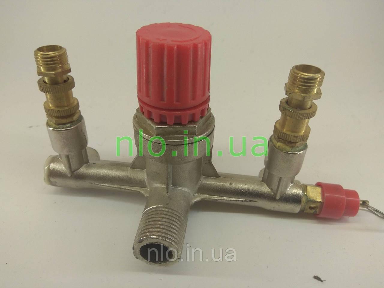 Контрольно распределительный блок компрессора (диаметр наружный 21 мм и 13 мм, диаметр внутренний 9 мм)