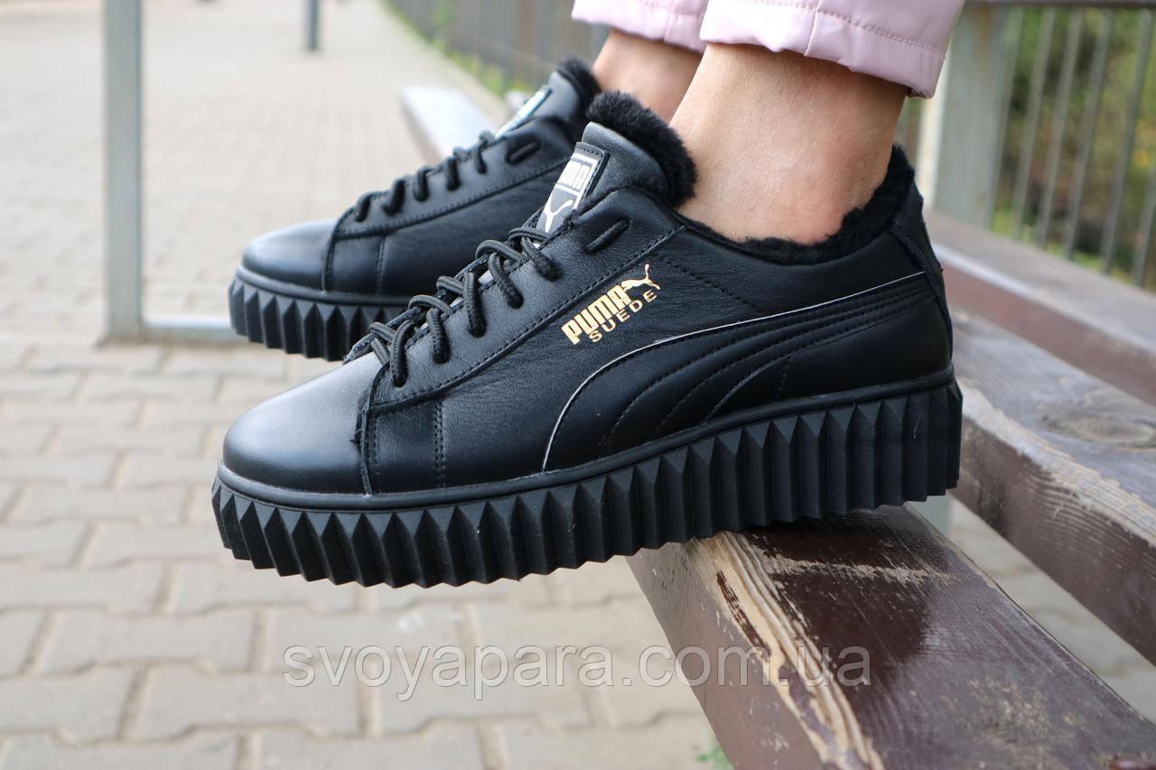 Ботинки женские Nev-Men P14 черные (натуральная кожа, зима)