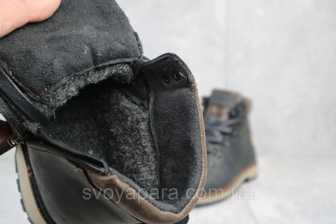 Ботинки подростковые Yuves 783 черные-матовые (натуральная кожа, зима)