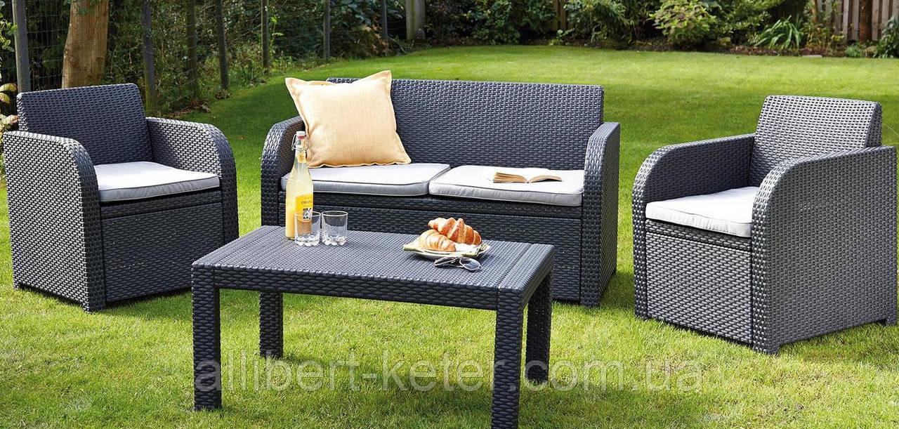 Набор садовой мебели Carolina Lounge Set из искусственного ротанга