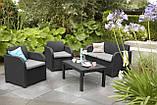 Набор садовой мебели Carolina Lounge Set из искусственного ротанга ( Allibert by Keter ), фото 6