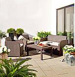 Набор садовой мебели Carolina Lounge Set из искусственного ротанга ( Allibert by Keter ), фото 8
