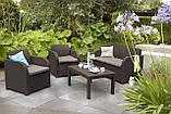 Набор садовой мебели Carolina Lounge Set из искусственного ротанга ( Allibert by Keter ), фото 9