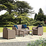 Набор садовой мебели Carolina Lounge Set из искусственного ротанга ( Allibert by Keter ), фото 10