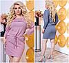 Р-ры 48-56 Короткое вязаное платье - туника Батал 20462