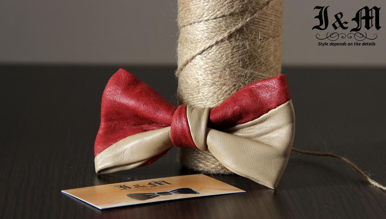 Кожаная галстук-бабочка I&M (010815)