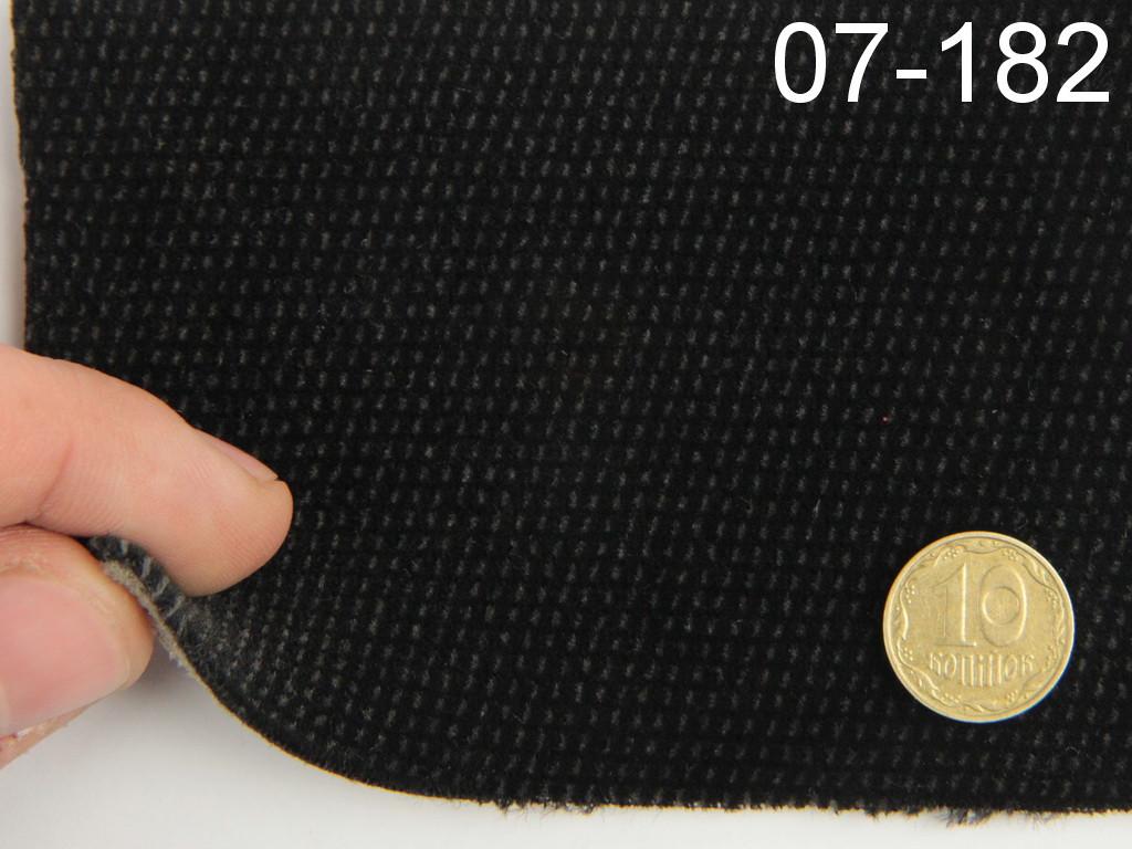 Ткань велюр для сидений автомобиля, черной, на поролоне и сетке (для центральной части) шир 1.80м