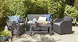 Набор садовой мебели Carolina Lounge Set Graphite ( графит ) из искусственного ротанга ( Allibert by Keter ), фото 7